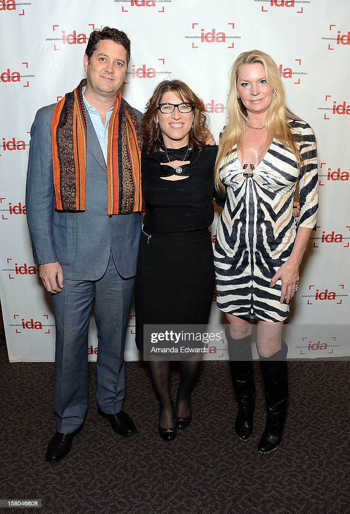 Executive producer Frank Evers, filmmaker Lauren Greenfield and Jackie Siegel arrive at the International Documentary Association's 2012 IDA Documentary Awards at The Directors Guild Of America on December 7, 2012 in Los Angeles, California.
