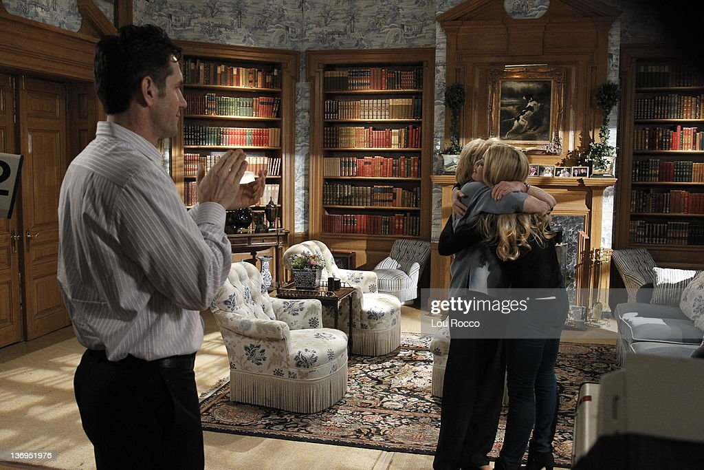 LIVE - Executive producer Frank Valentini, Erika Slezak (Viki) and Bree Williamson (Jessica) in a scene that airs the week of January 9, 2012 on ABC Daytime's 'One Life to Live.' 'One Life to Live' airs Monday-Friday (2:00 p.m. - 3:00 p.m., ET) on the ABC Television Network. , ERIKA SLEZAK, BREE WILLIAMSON