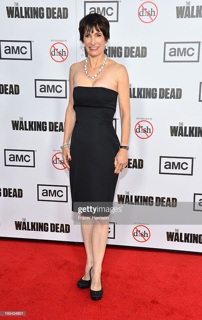 Executive Producer Gale Anne Hurd arrives at the premiere of AMC's 'The Walking Dead' 3rd Season at Universal CityWalk on October 4, 2012 in Universal City, California.