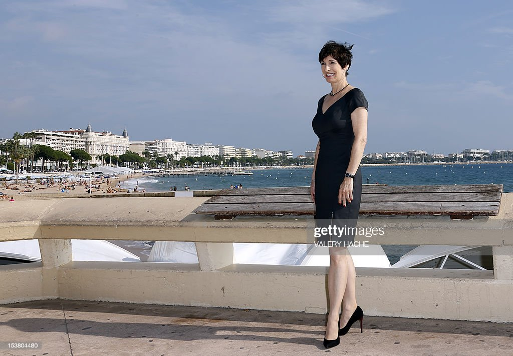 US executive producer Gale Anne Hurd poses during a photocall for the TV show 'The Walking Dead' as part of the Mipcom international audiovisual trade show at the Palais des Festivals, in Cannes, southeastern France, on October 9, 2012.