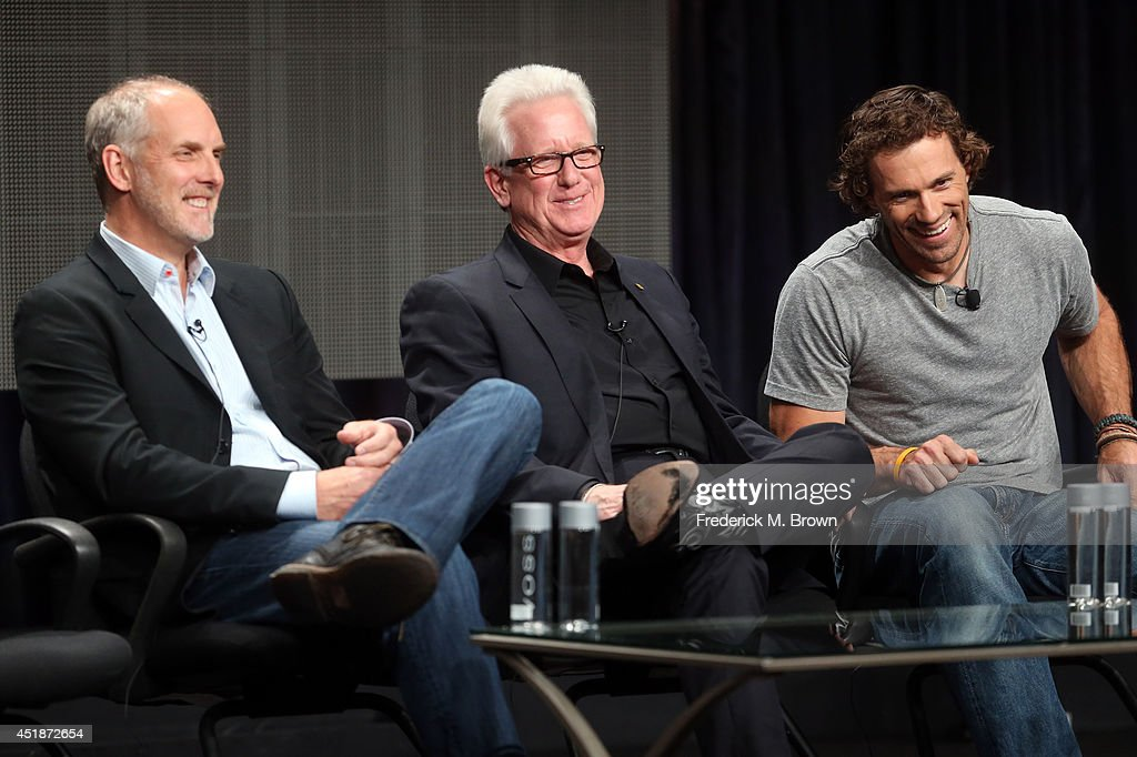 Executive producer Geoff Luck, Photojournalist Steven Winter and Big cat tracker and expert Boone Smith speak onstage at the 'Urban Jungle' panel during the National Geographic Channels portion of the 2014 Summer Television Critics Association at The Beverly Hilton Hotel on July 8, 2014 in Beverly Hills, California.
