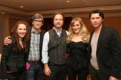 Executive producer Greer Shephard executive producers/writers Hunt Baldwin John Coveny actress Katee Sackhoff and actor Lou Diamond Phillips attend...
