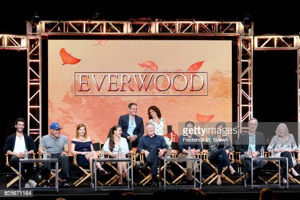 Executive producer Greg Berlanti and Rina Mimoun and actors Justin Baldoni John Beasley Stephanie Niznik Vivien Cardone Treat Williams Gregory Smith...
