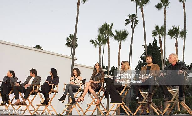 Executive Producer I Marlene King actors Tyler Blackburn Andrea Parker Lucy Hale Troian Bellisario Sasha Pieterse Keegan Allen and Executive Producer...