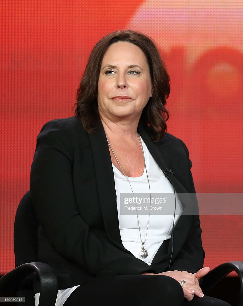Executive Producer I. Marlene King of 'Pretty Little Liars' speaks onstage during the ABC portion of the 2013 Winter TCA Tour at Langham Hotel on January 10, 2013 in Pasadena, California.