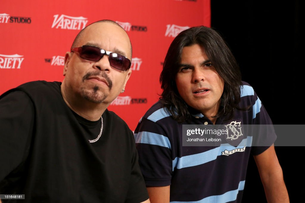 Executive Producer <a gi-track='captionPersonalityLinkClicked' href=/galleries/search?phrase=Ice-T&family=editorial&specificpeople=213017 ng-click='$event.stopPropagation()'>Ice-T</a> (L) and Director/Executive Producer Jorge Hinojosa attend Variety Studio presented by Moroccanoil at Holt Renfrew on Day 2 at Holt Renfrew, Toronto during the 2012 Toronto International Film Festival on September 9, 2012 in Toronto, Canada.