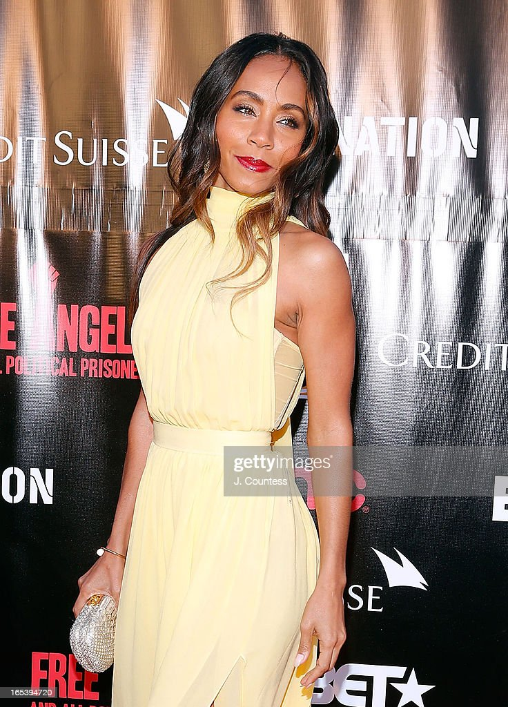 Executive producer Jada Pinkett Smith attends 'Free Angela and All Political Prisoners' New York Premiere at The Schomburg Center for Research in Black Culture on April 3, 2013 in New York City.