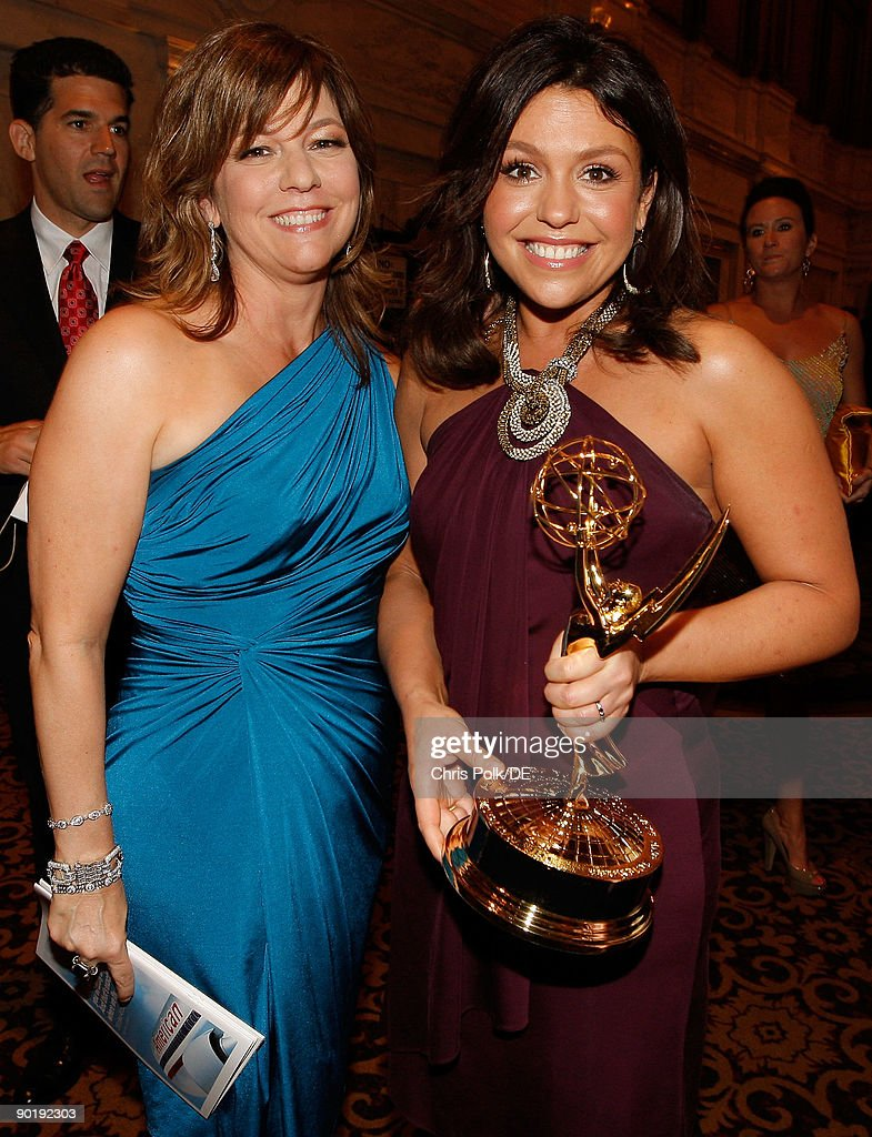 Executive Producer Janet Annino (L) and TV Personality Rachael Ray, winner of the Emmy for Outstanding Talk Show/Entertainment, attend the 36th Annual Daytime Emmy Awards at The Orpheum Theatre on August 30, 2009 in Los Angeles, California.