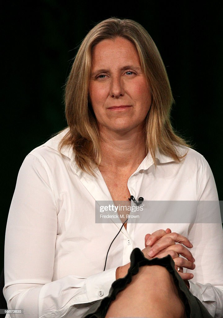 Executive producer Janet Leahy speaks onstage at the Showtime 'Life Unexpected' Q&A portion of the 2010 Winter TCA Tour day 1 at the Langham Hotel on January 9, 2010 in Pasadena, California.