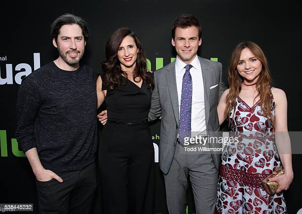 Executive producer Jason Reitman actors Michaela Watkins Tommy Dewey and Tara Lynne Barr attend the 'Casual' Season 2 premiere and FYC event at...