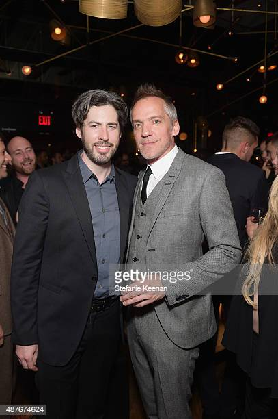 Executive producer Jason Reitman and director JeanMarc Vallee attend the GREY GOOSE Vodka party for Demolition at Patria on September 10 2015 in...