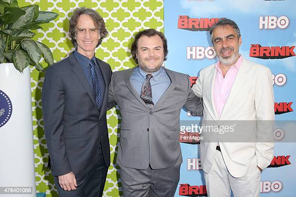 Executive Producer Jay Roach actor Jack Black and executive producer Roberto Benabib attend HBO's 'The Brink' Los Angeles Premiere at Paramount...