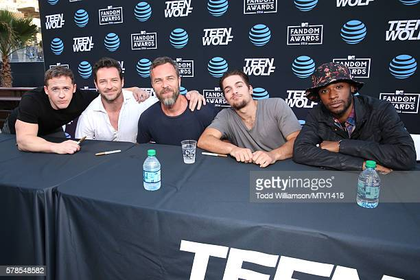 Executive producer Jeff Davis with actors Ian Bohen JR Bourne Dylan Sprayberry and Khylin Rhambo attend the MTV Fandom Awards San Diego at PETCO Park...