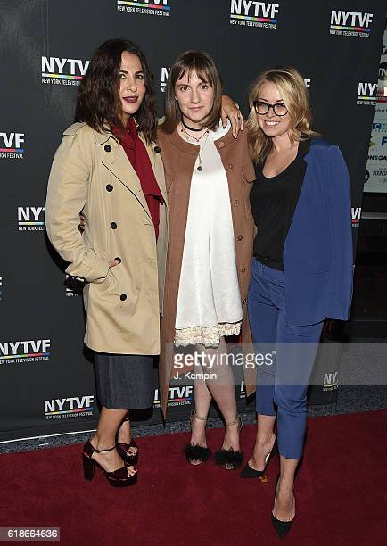 Executive Producer Jennifer Konner actress Lena Dunham and Vice President of HBO Programming Kathleen McCaffrey attend the creative keynote 'A...