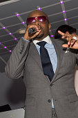 Executive producer Jermaine Dupri speaks on stage during the private screening of Lifetime's 'The Rap Game' at Suite Food Lounge on July 22 2016 in...