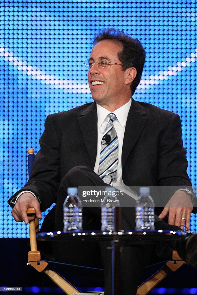 Executive Producer Jerry Seinfeld speaks onstage for NBC's television show 'The Marriage Ref' during the NBC Universal 2010 Winter TCA Tour day 2 at the Langham Hotel on January 10, 2010 in Pasadena, California.
