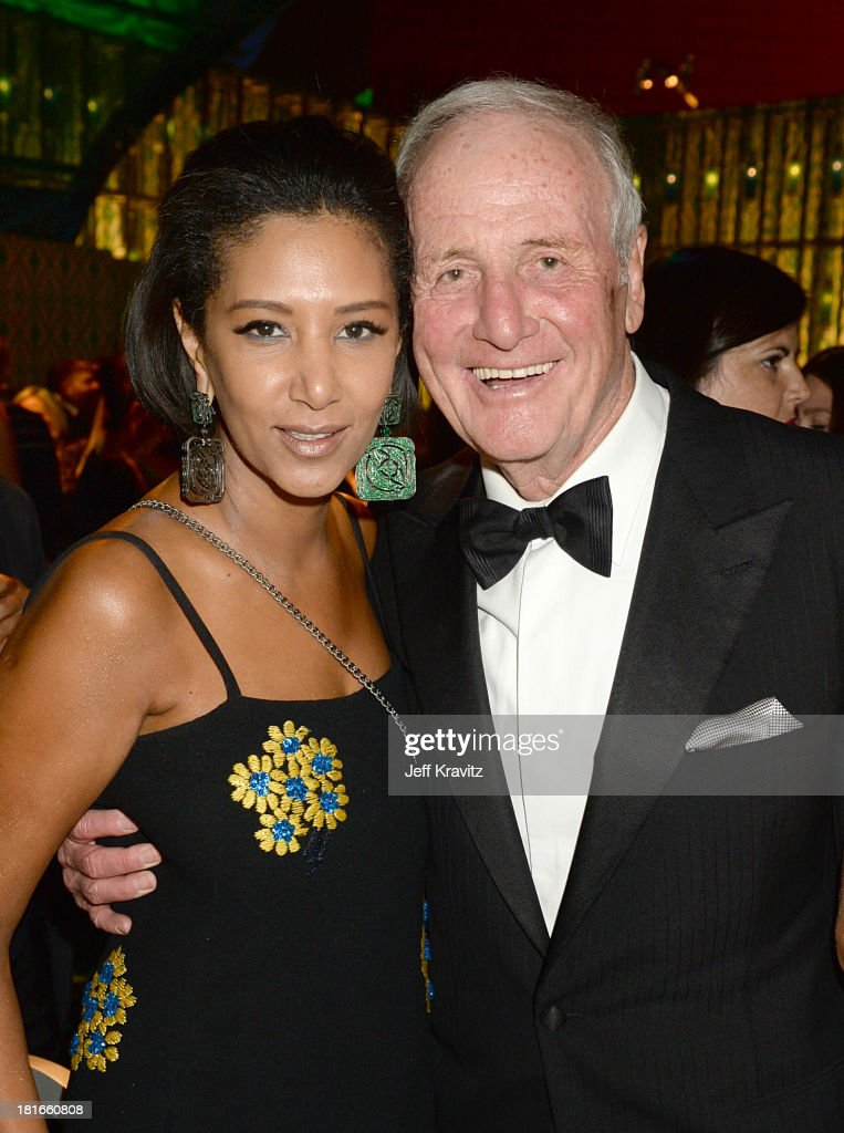 Executive Producer <a gi-track='captionPersonalityLinkClicked' href=/galleries/search?phrase=Jerry+Weintraub&family=editorial&specificpeople=212833 ng-click='$event.stopPropagation()'>Jerry Weintraub</a> (R) and guest attend HBO's official Emmy after party at The Plaza at the Pacific Design Center on September 22, 2013 in Los Angeles, California.