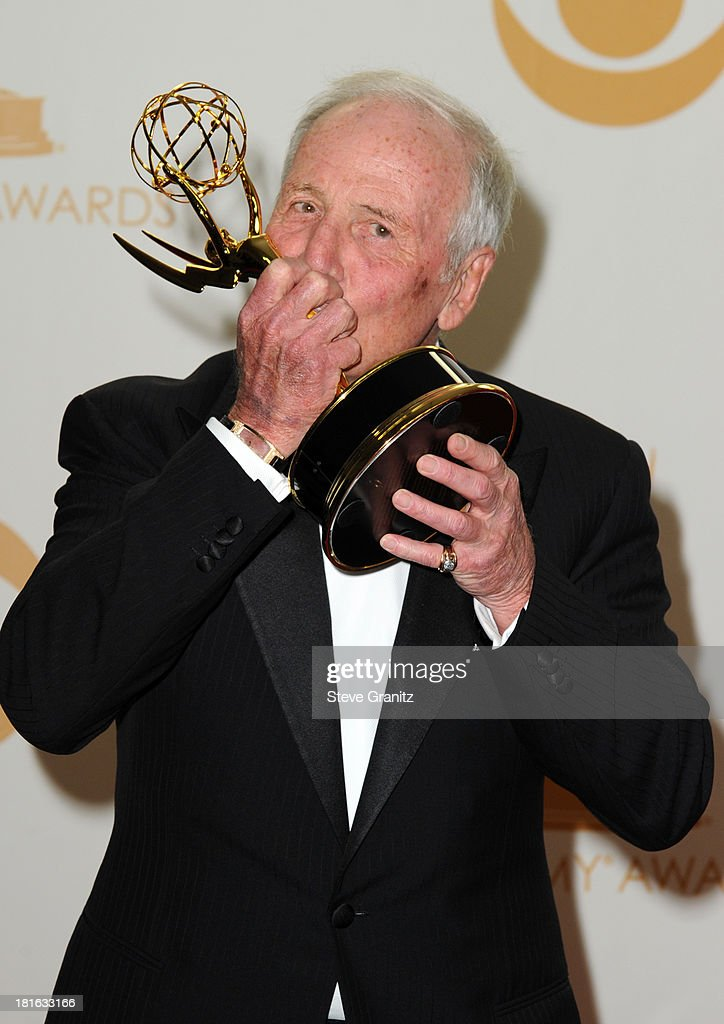 Executive Producer <a gi-track='captionPersonalityLinkClicked' href=/galleries/search?phrase=Jerry+Weintraub&family=editorial&specificpeople=212833 ng-click='$event.stopPropagation()'>Jerry Weintraub</a> poses in the press room during the 65th Annual Primetime Emmy Awards held at Nokia Theatre L.A. Live on September 22, 2013 in Los Angeles, California.