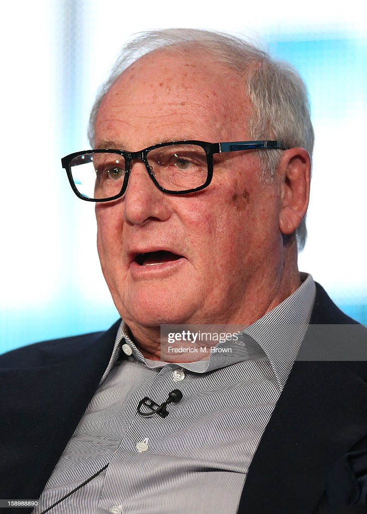Executive producer Jerry Weintraub speaks onstage during the 'Behind the Candelabra' panel discussion at the HBO portion of the 2013 Winter TCA Tourduring 2013 Winter TCA Tour - Day 1 at Langham Hotel on January 4, 2013 in Pasadena, California.