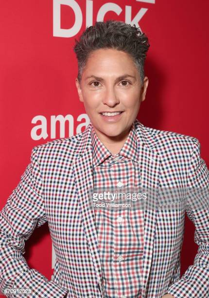 Executive producer Jill Soloway attends the red carpet premiere of Amazon's forthcoming series 'I Love Dick' at The Linwood Dunn Theater with a post...