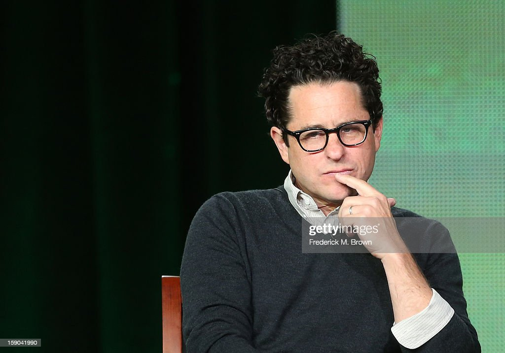 Executive Producer <a gi-track='captionPersonalityLinkClicked' href=/galleries/search?phrase=J.J.+Abrams&family=editorial&specificpeople=253632 ng-click='$event.stopPropagation()'>J.J. Abrams</a> speaks onstage at the 'Revolution' panel session during the NBCUniversal portion of the 2013 Winter TCA Tour- Day 3 at the Langham Hotel on January 6, 2013 in Pasadena, California.