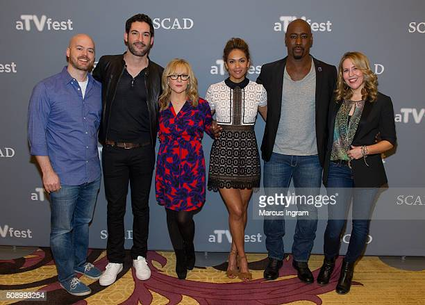 Executive Producer Joe Henderson actor Tom Ellis actress Rachael Harris actress LesleyAnn Brandt actor DB Woodside and Executive Producer Lldy...