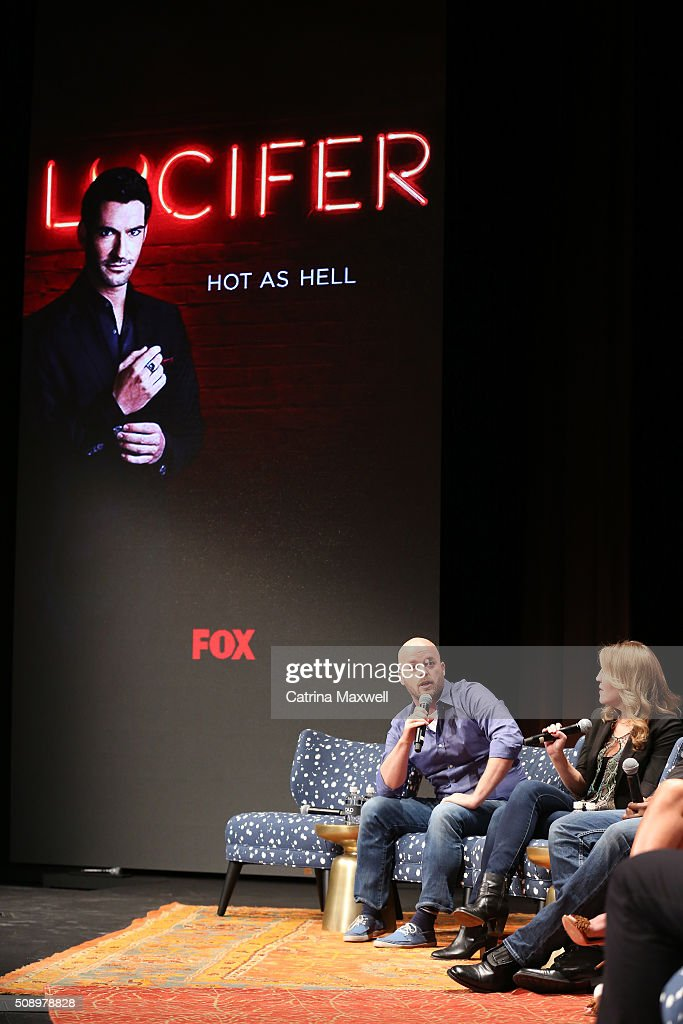 Executive Producer Joe Henderson and Executive Producer Ildy Modrovich speak at 'Lucifer' event during aTVfest 2016 presented by SCAD on February 7, 2016 in Atlanta, Georgia.