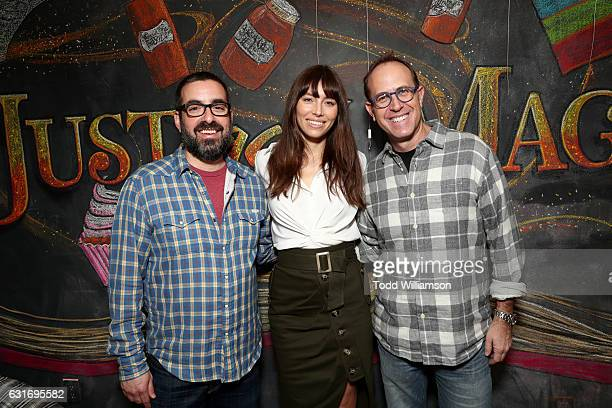 Executive producer Joe Nussbaum actress Jessica Biel and executive producer Andrew Orenstein attend the second season premiere of Amazon Original...