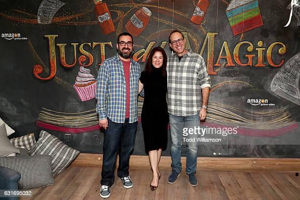 Executive producer Joe Nussbaum Amazon Studios Head of Kids Programming Tara Sorensen and executive producer Andrew Orenstein attend the second...