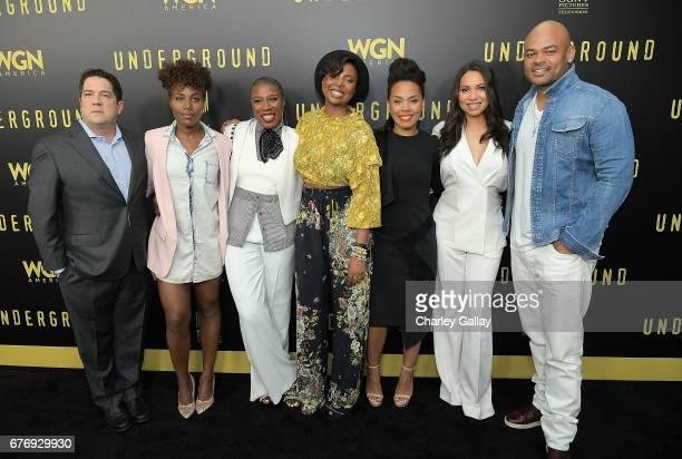 Executive producer Joe Pokaski DeWanda Wise Aisha Hinds Executive producer Misha Green Amirah Vann Jurnee SmollettBell and director/executive...