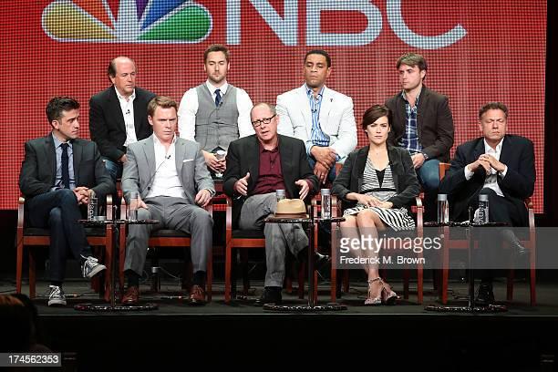 Executive Producer John Davis actors Ryan Eggold and Harry Lennix and Executive Producer John Fox Executive Producer Jon Bokenkamp actors Diego...