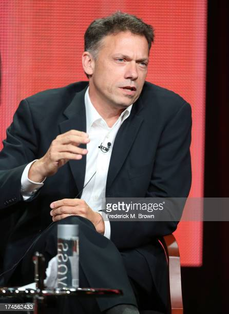Executive Producer John Eisendrath speaks onstage during 'The Blacklist' panel discussion at the NBC portion of the 2013 Summer Television Critics...