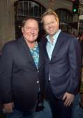 Executive producer John Lasseter and Director/ Writer Andrew Stanton arrive at the premiere of Disney Pixar's 'Finding Nemo' Disney Digital 3D at the...