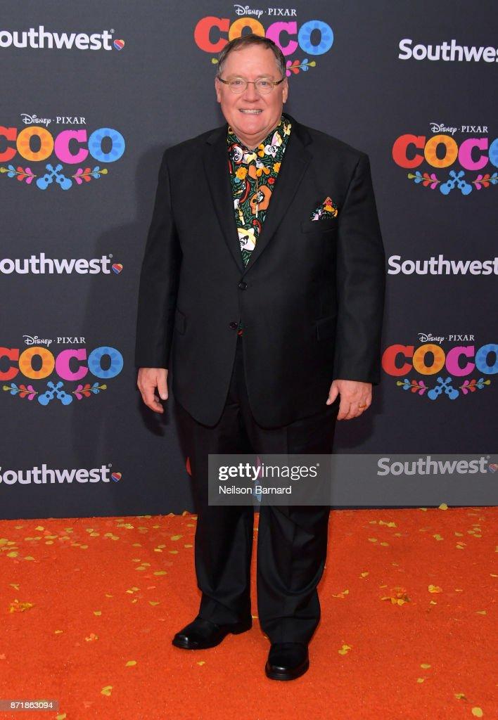 Executive producer John Lasseter attends Disney Pixar's 'Coco' premiere at El Capitan Theatre on November 8, 2017 in Los Angeles, California.