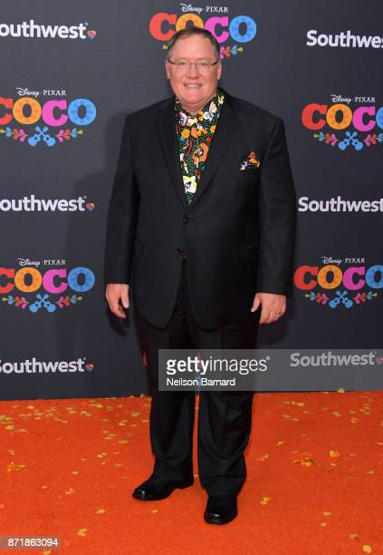 Executive producer John Lasseter attends Disney Pixar's 'Coco' premiere at El Capitan Theatre on November 8 2017 in Los Angeles California
