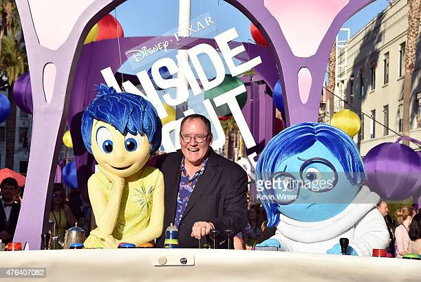 Executive producer John Lasseter attends the Los Angeles premiere of DisneyPixar's 'Inside Out' at the El Capitan Theatre on June 8 2015 in Hollywood...