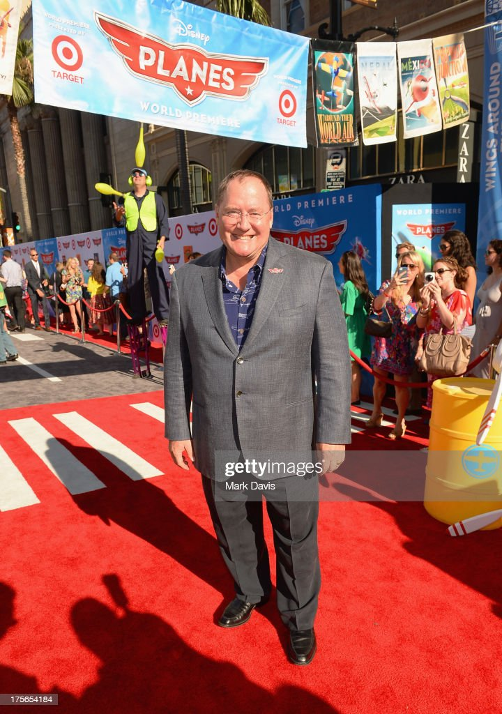 Executive Producer John Lasseter attends the premiere of Disney's 'Planes' at the El Capitan Theatre on August 5, 2013 in Hollywood, California.
