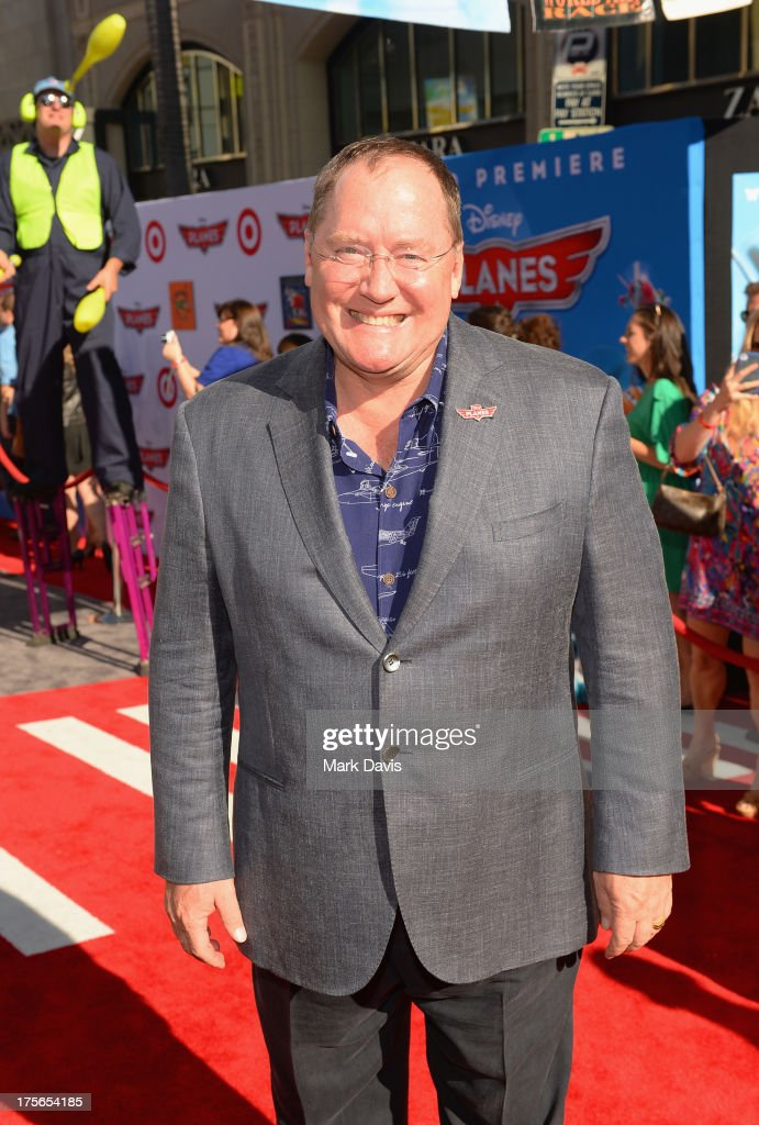 Executive Producer <a gi-track='captionPersonalityLinkClicked' href=/galleries/search?phrase=John+Lasseter&family=editorial&specificpeople=224003 ng-click='$event.stopPropagation()'>John Lasseter</a> attends the premiere of Disney's 'Planes' at the El Capitan Theatre on August 5, 2013 in Hollywood, California.