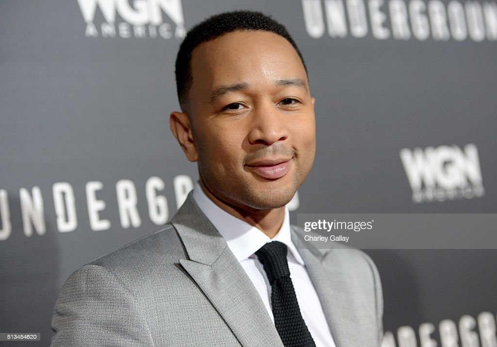 Executive producer <a gi-track='captionPersonalityLinkClicked' href=/galleries/search?phrase=John+Legend&family=editorial&specificpeople=201468 ng-click='$event.stopPropagation()'>John Legend</a> attends WGN America's 'Underground' World Premiere on March 2, 2016 in Los Angeles, California.