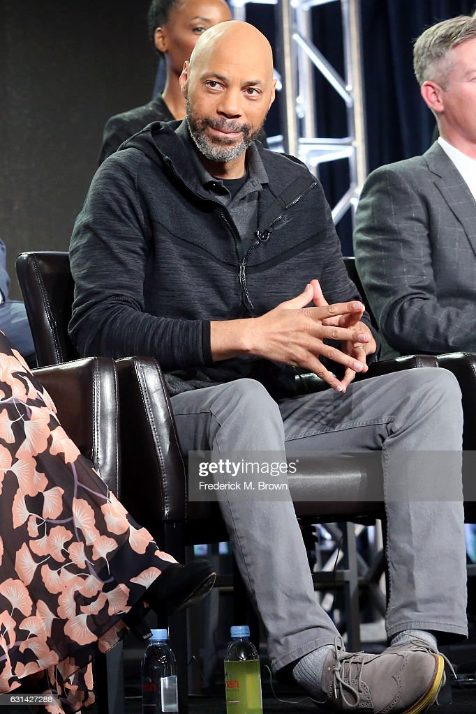 Executive Producer John Ridley of the television show 'American Crime' speaks onstage during the Disney-ABC portion of the 2017 Winter Television Critics Association Press Tour at Langham Hotel on January 10, 2017 in Pasadena, California.