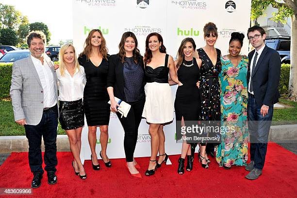 Executive producer Jonathan Stern actors Angela Kinsey Andrea Savage Casey Wilson Dannah Phirman Danielle Schneider Erinn Hayes Tymberlee Hill and...