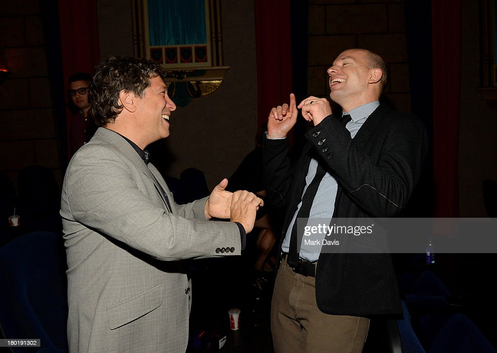 Executive producer Jonathan Stern (L) and actor Paul Scheer attend the 'Childrens Hospital' and 'NTSF:SD:SUV' screening event at the Vista Theatre on September 9, 2013 in Los Angeles, California. 24049_001_MD_0242.JPG