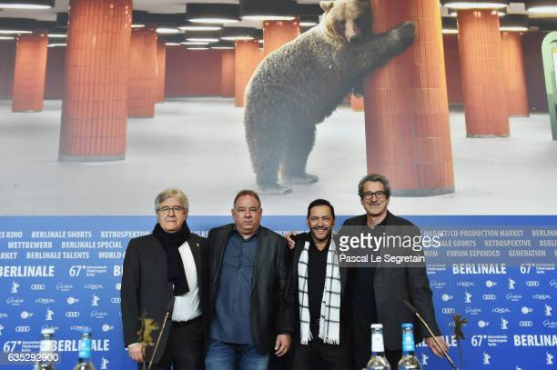 Executive producer Jose Maria Morales producer Danilo Leon actor Jorge Martinez and film director Fernando Perez attend the 'Last Days in Havana'...