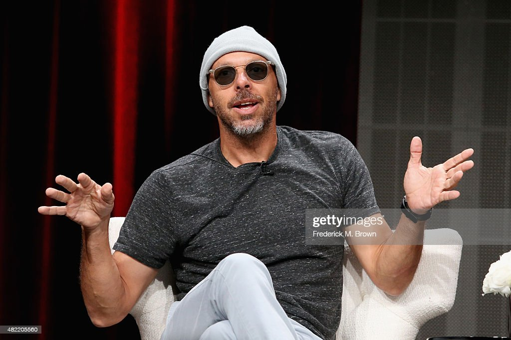 Executive producer Jose Padilha speaks onstage during the 'Narcos' panel discussion at the Netflix portion of the 2015 Summer TCA Tour at The Beverly...