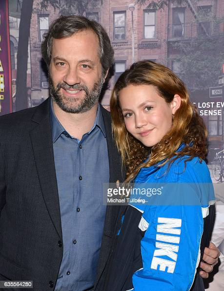 Executive Producer Judd Apatow and daughter Iris Apatow attend the premiere of HBO's 'Crashing' at Avalon on February 15 2017 in Hollywood California