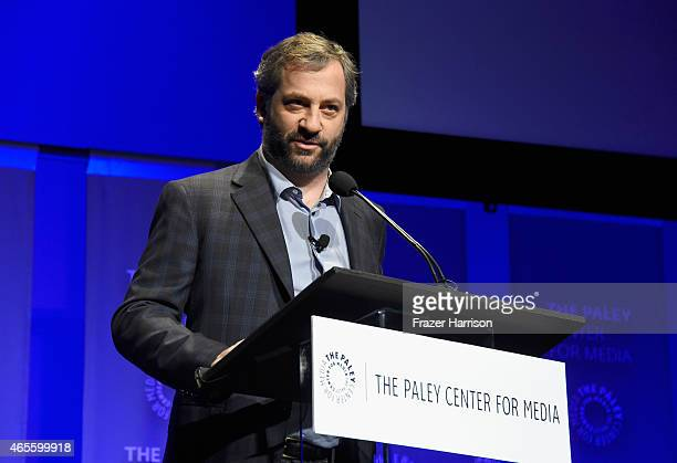 Executive producer Judd Apatow speaks onstage at The Paley Center For Media's 32nd Annual PALEYFEST LA 'Girls' at Dolby Theatre on March 8 2015 in...