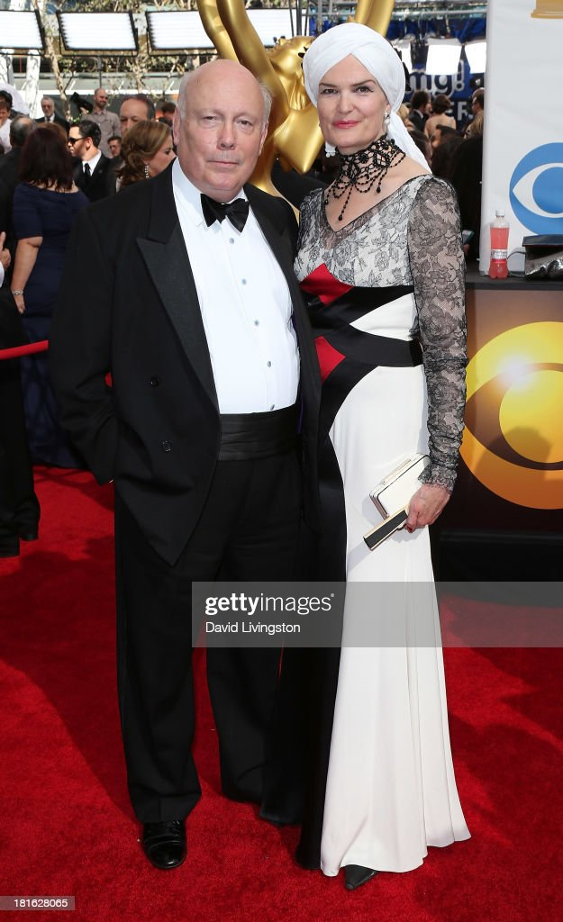 Executive producer <a gi-track='captionPersonalityLinkClicked' href=/galleries/search?phrase=Julian+Fellowes&family=editorial&specificpeople=224703 ng-click='$event.stopPropagation()'>Julian Fellowes</a> (L) and wife Emma Fellowes attend the 65th Annual Primetime Emmy Awards at the Nokia Theatre L.A. Live on September 22, 2013 in Los Angeles, California.
