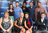 Executive producer Julie Plec actors Danielle Campbell Daniel Gillies Leah Pipes Phoebe Tonkin and Yusuf Gatewood executive producer Michael Narducci...