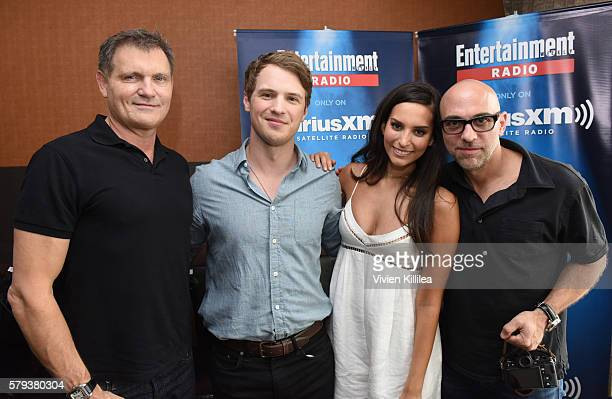 Executive producer Kevin Williamson actor Freddie Stroma actress Genesis Rodriguez and executive producer Marcos Siega attend SiriusXM's...