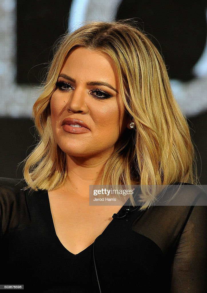 Executive producer Khloe Kardashian speaks onstage during the FYI Kocktails with Khloe panel at the AE Networks 2016 Television Critics Association...